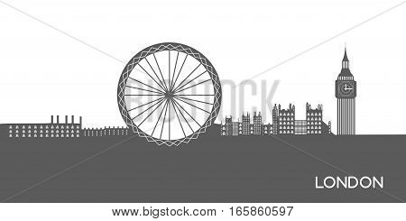 Isolated Cityscape Of London