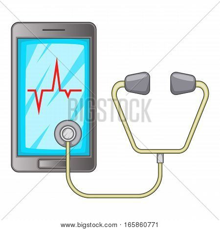 Phone diagnostic icon. Cartoon illustration of phone diagnostic vector icon for web design