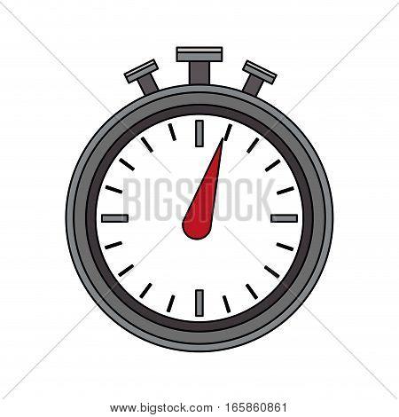 chronometer icon over white background. colorful design. vector illustration