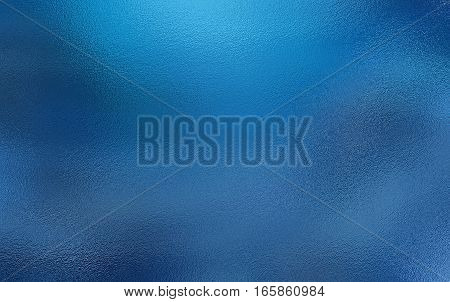 Blue metallic foil paper texture background. Close up