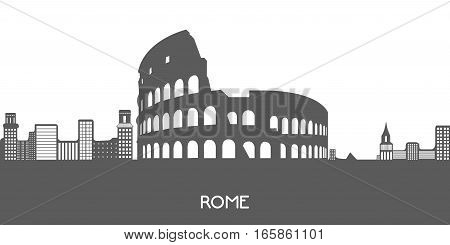 Isolated Cityscape Of Rome