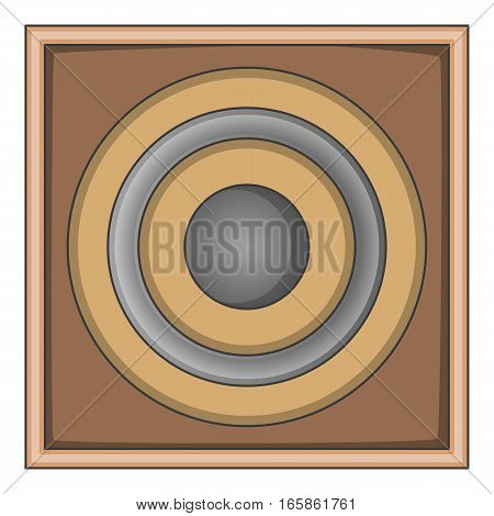 Audio speaker icon. Cartoon illustration of audio speaker vector icon for web design