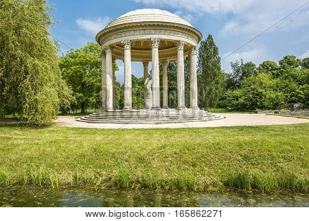 Versailles, France - June 2016: Artistic bower in Small Trianon park