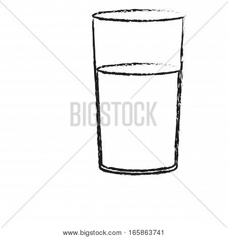 glass of water icon over white background. vector illustration