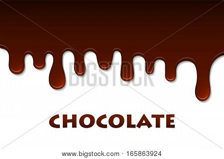 Melted Chocolate Abstract. Decoration Background. Vector Illustration