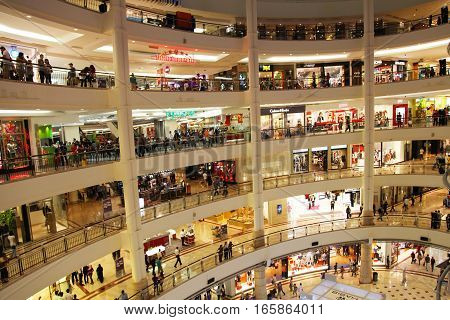 Shopping Center - Mall with a lots of stores