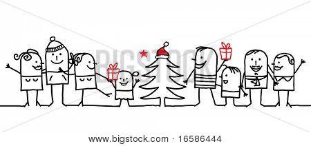 group and Christmas