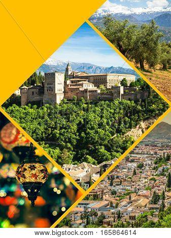 Collage of Granada,Spain (my photos) Europe  ,