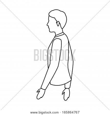 man cartoon icon over white background. vector illustration
