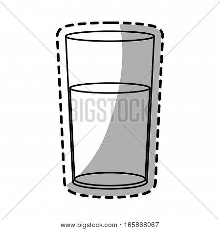 water glass icon over white background. vector illustration