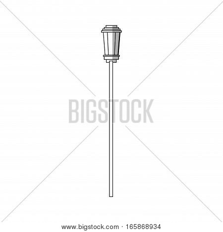street lamp icon over white background. vector illustration