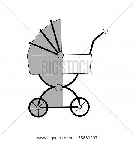 baby carriage icon over white background. vector illustration