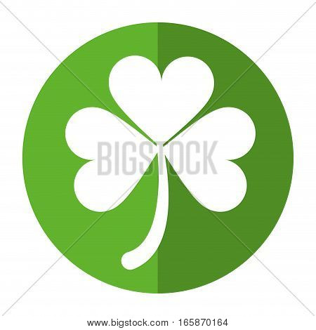 clover leafs saint patrick day ornament shadow vector illustration eps 10