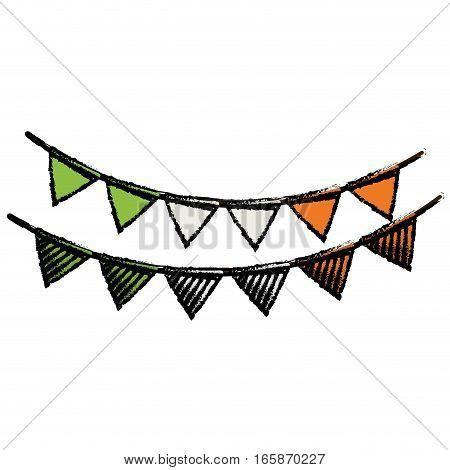 cartoon festive bunting st patrick day vector illustration eps 10