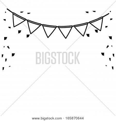 festive bunting confetti st patrick day outline vector illustration eps 10