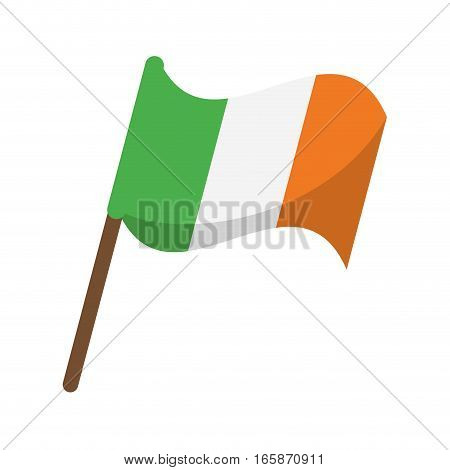 flag celebration saint patrick day vector illustration eps 10