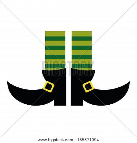 legs boot leprachaun socks stripes st patrick day vector illustration eps 10