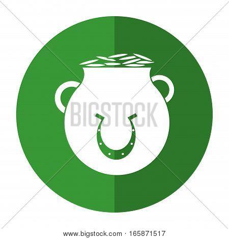 st patrick day pot coins shamrock shadow vector illustration eps 10