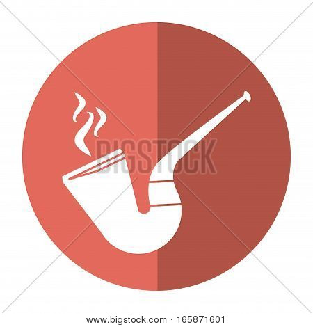 st patrick day tobacco pipe leprachaun shadow vector illustration eps 10