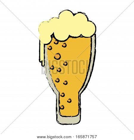 cartoon saint patrick day frosty glass beer celebration vector illustration eps 10
