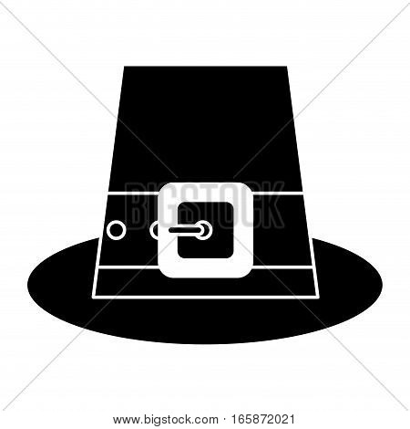silhouette saint patrick day top hat with buckle vector illustration eps 10