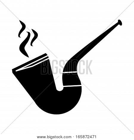 silhouette st patrick day tobacco pipe leprachaun smoke vector illustration eps 10