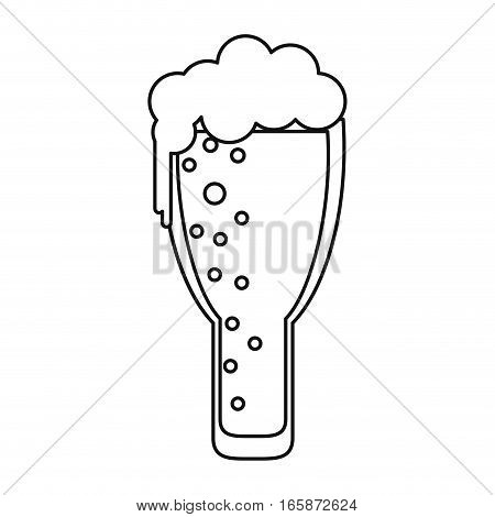 saint patrick day frosty glass beer celebration outline vector illustration eps 10