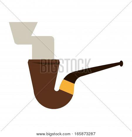 st patrick day tobacco pipe leprachaun smoke icon vector illustration eps 10