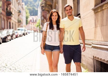 young people having a good day out in the city of heidelberg