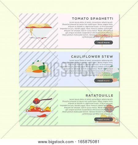 delicious Food Banner Or Website Header, This design is suitable for a banner or header website