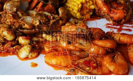 Seafood /  form of sea life regarded as food by humans. Seafood prominently includes fish and shellfish.