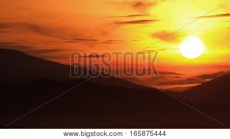 Sunrise background / Sunrise or sun up is the instant at which the upper edge of the Sun appears over the horizon in the morning.