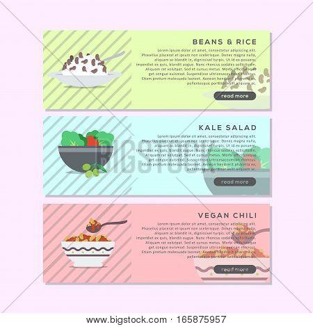 Vegan Food Header Or Website Banner, This design is suitable for a banner or header website