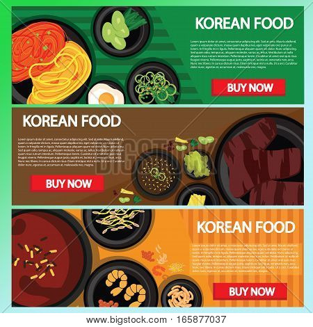 korean food baner website online buying, This design is suitable for a banner or header website