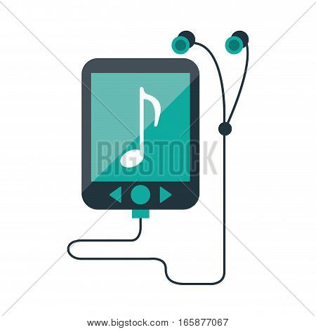 mp3 device play music earphones vector illustration eps 10