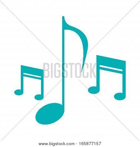 music note sound melody symbol vector illustration eps 10
