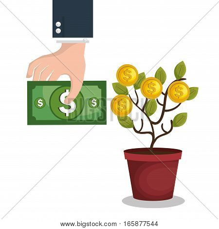 crowd funding concept icon vector illustration design