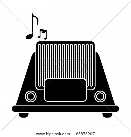 silhouette radio music communication device vector illustration eps 10