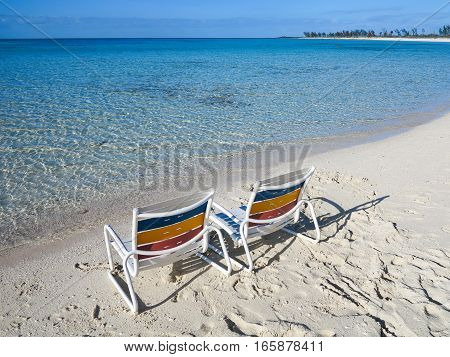 2 chairs overlooking the relaxing Atlantic Ocean