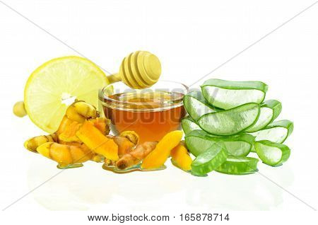 Asian Skincare Therapy From Nature With Aloe Vera Gel, Curmin, Lamon Juice And Honey.
