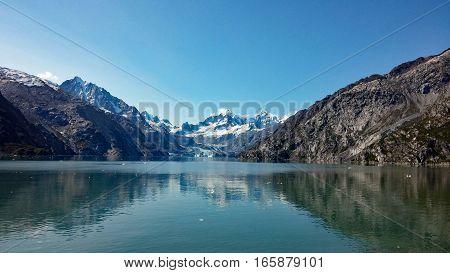 Cruising towards Margerie Glacier in Glacier Bay, Alaska