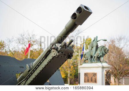 World War Two Tank Gun Detail Closeup
