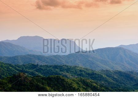 Sunset At Look Rock In Great Smoky Mountains National Park