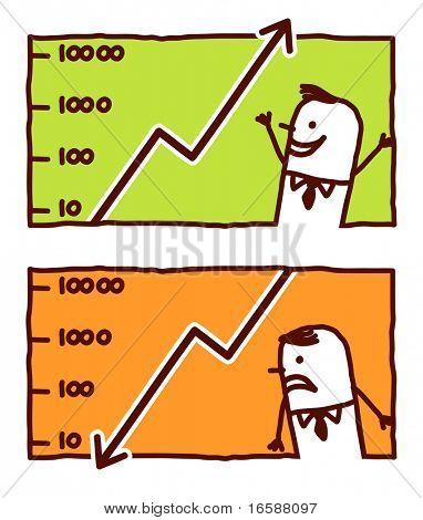 businessman & financial graphic