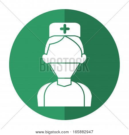 surgeon doctor wearing clothes medical uniform with shadow vector illustration eps 10