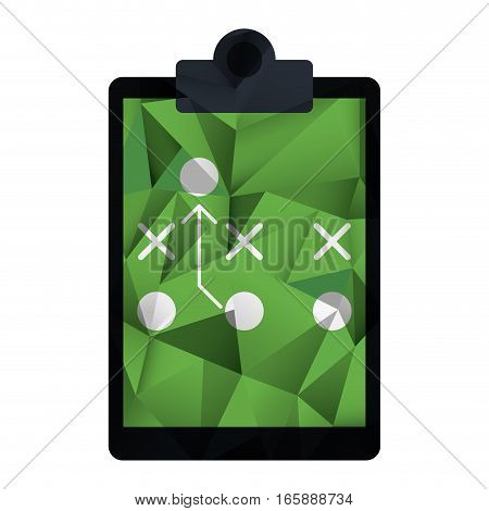 board tactical diagram american football abstract geometric vector illustration eps 10