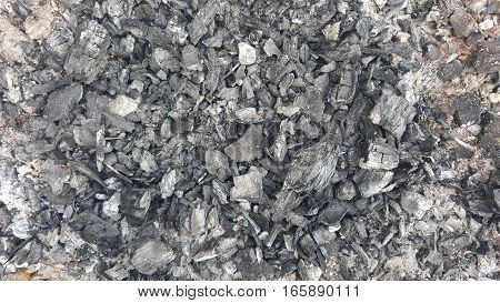 Black coal texture. Natural coals background. Abstract