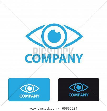 Vector stylized sign eye, three logo isolated