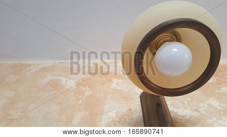 An electrical lamp with the light bulb