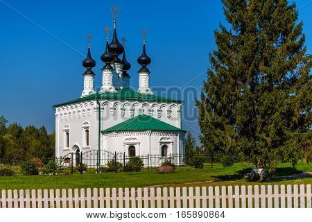 Old orthodox church in Suzdal summer day